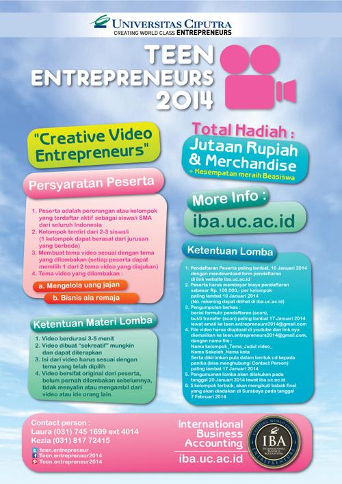 Teen Entrepreneurs 2014