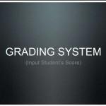 Grading system