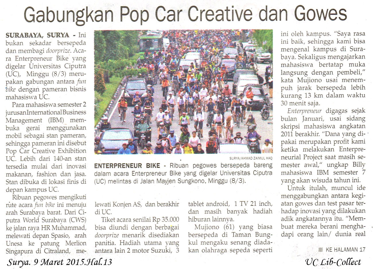 Gabungkan Pop Car Creative dan Gowes