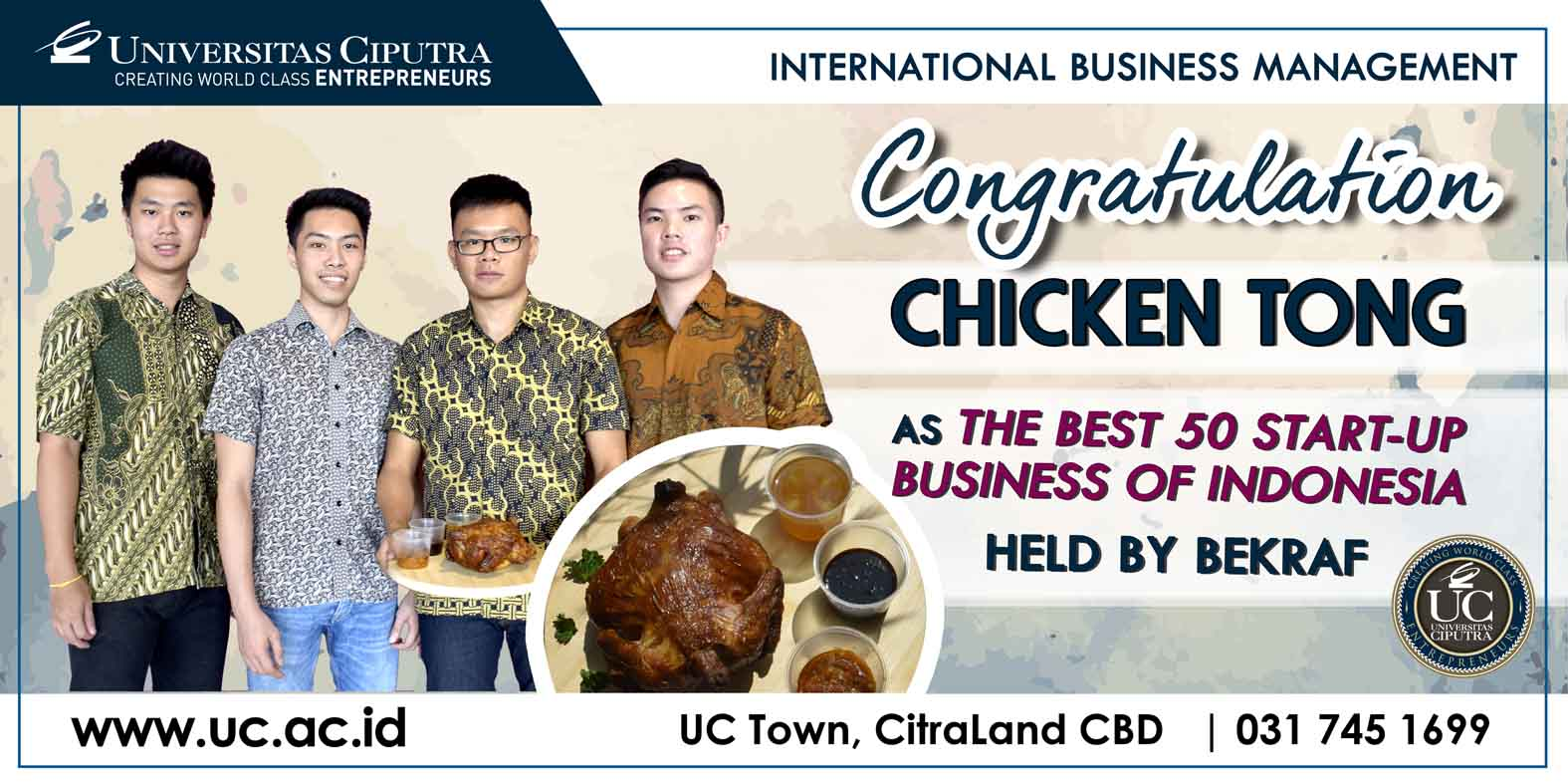 Congratulations For Chicken Tong