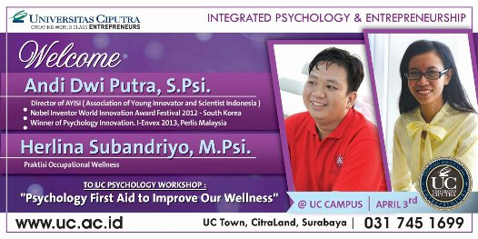 Seminar Psychology First Aid to Improve Wellness