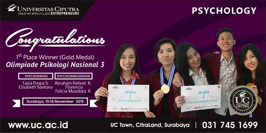 1st Place di Olimpiade Psikologi Nasional 3