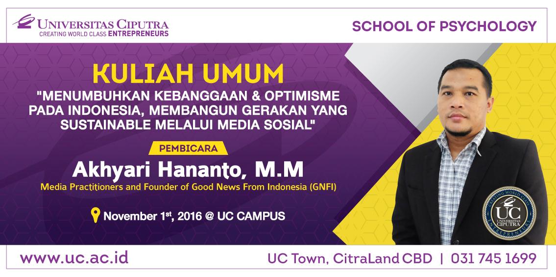 Kuliah Tamu dengan Akhyari Hananto, M.M.