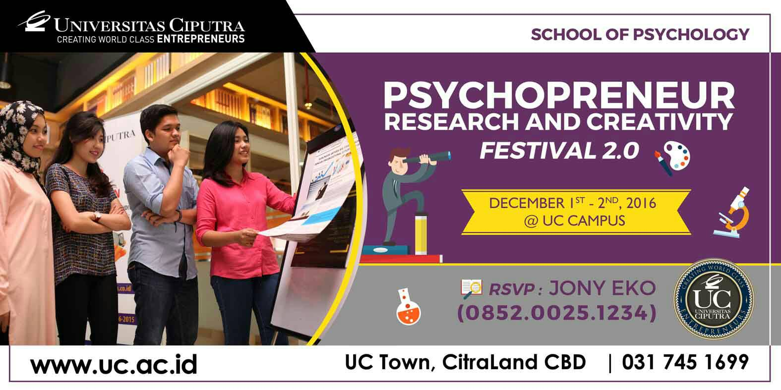 Psychopreneur Research and Creativity Festival 2.0