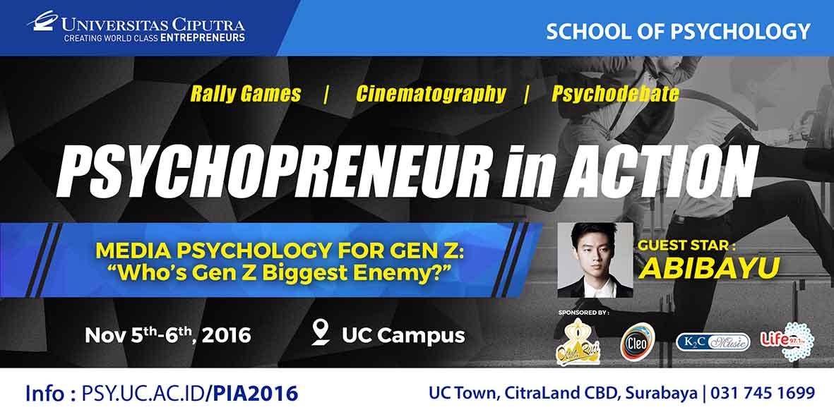 Psychopreneur in Action 2016