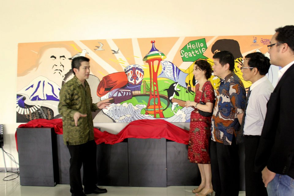 Peresmian Mural Persahabatan Surabaya – Seattle