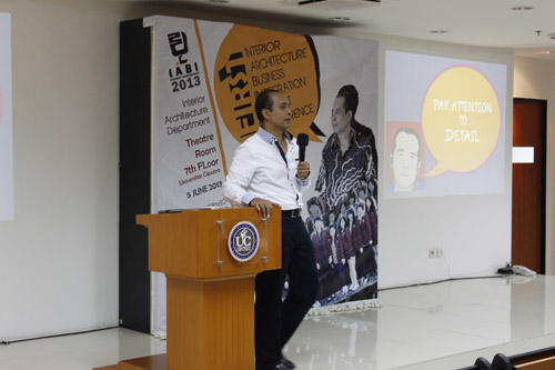 The 1st INTERIOR ARCHITECTURE BUSINESS INTEGRATION Student Conference 2013