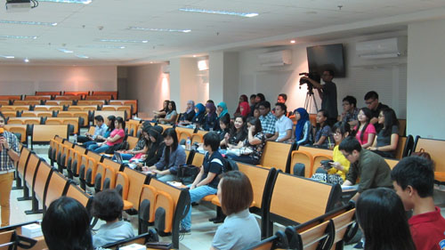Peserta Seminar Glenn Rozanno di Universitas Ciputra