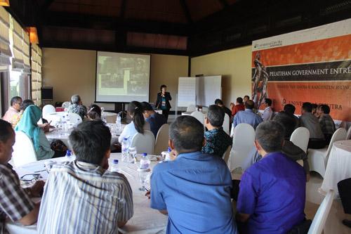 Sesi Workshop Government Entrepreneurship untuk pegawai pemerintah kabupaten wonosobo