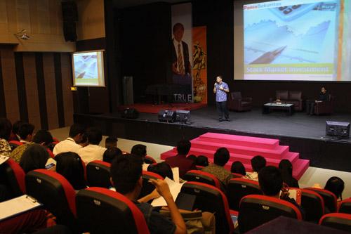 Edy Zhen dari panin sekuritas di universitas ciputra berbicara tentang investasi dan saham