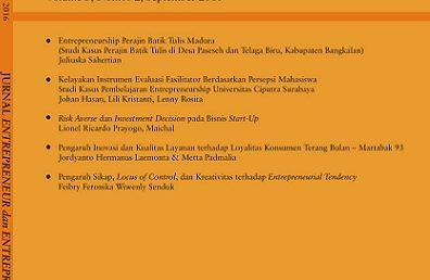 Entrepreneurship Perajin Batik Tulis Madura (Studi Kasus Perajin Batik Tulis di Desa Paseseh dan Telaga Biru, Kabupaten Bangkalan)