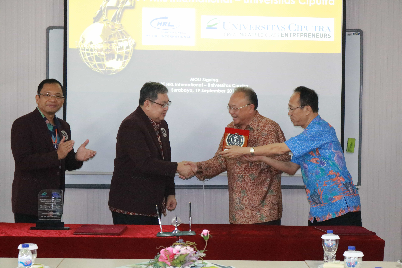 MOU Universitas Ciputra – PT. HRL Internasional