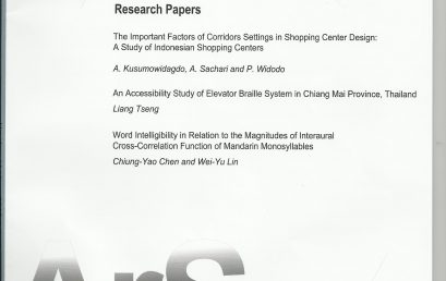 The Important Factors of Corridors Settings in Shopping Center Design A Study of Indonesian Shopping Centers